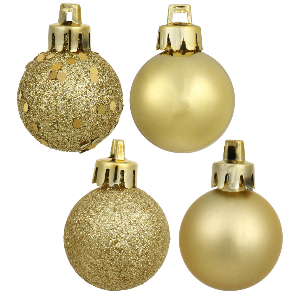 1.6 Inch 4 Assorted Finish Ball Ornaments (set Of 96)
