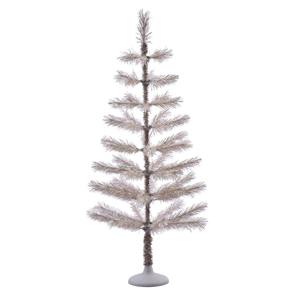 Artificial Christmas Trees Clearance: Champagne Feathery Long Needle Pine Tree