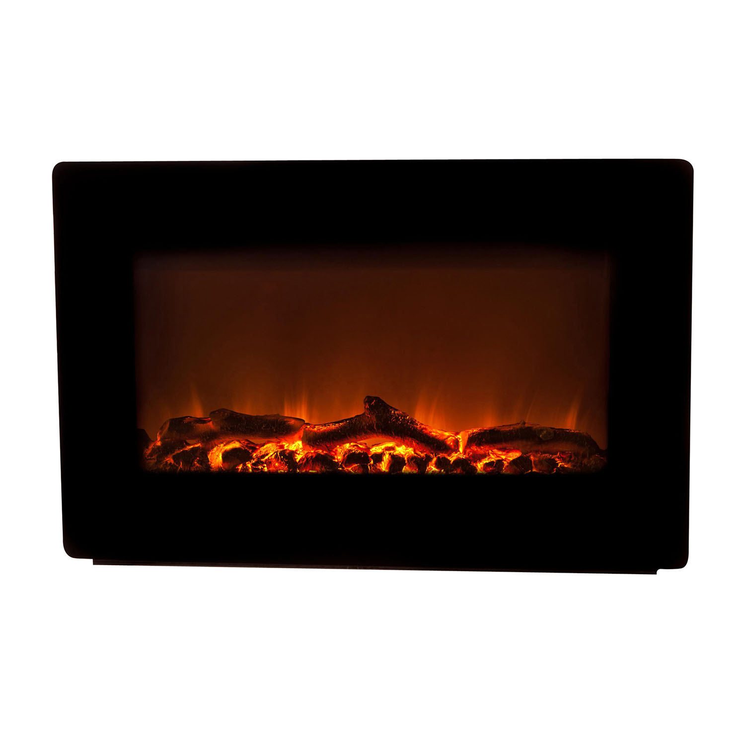 Fire Sense Black Wall Mounted Indoor Electric Fireplace