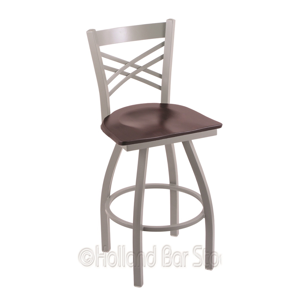 View Xl Catalina Swivel Counter Heavy Duty Stool Extra Wide Wood Seat Product Photo