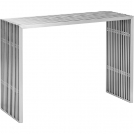 Modern Novel Console Table Brushed Stainless Steel