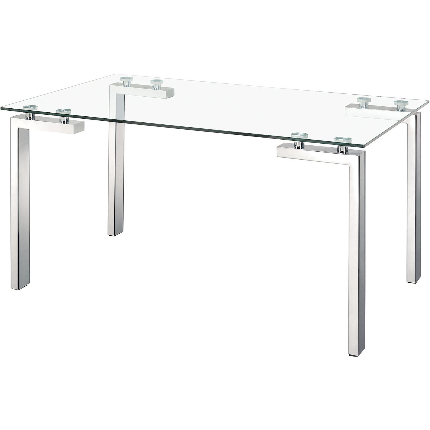 Modern Roca Polished Stainless Steel Dining Table