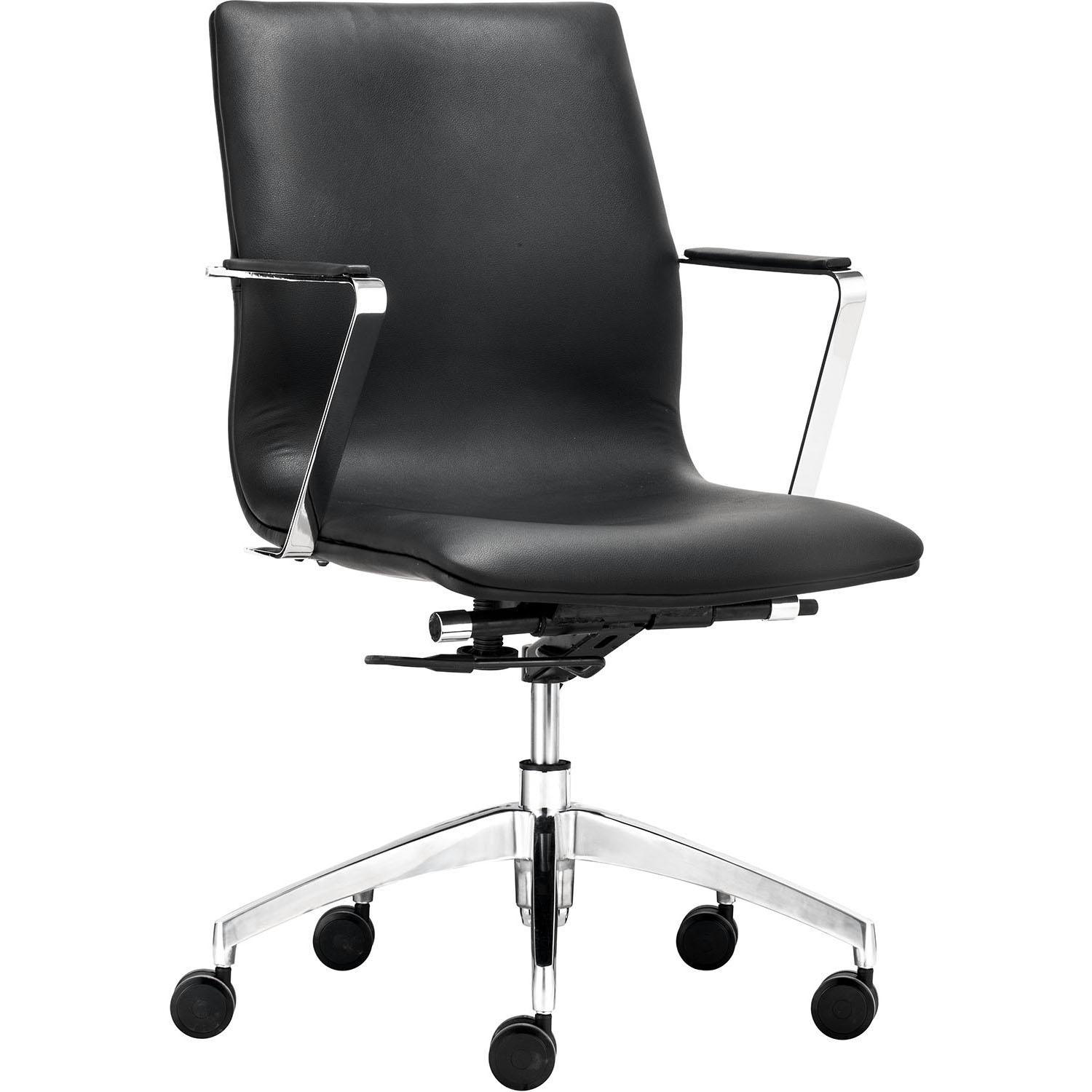Herald Low Back Adjustable Rolling Office Armchair 206150, 206151, 206152