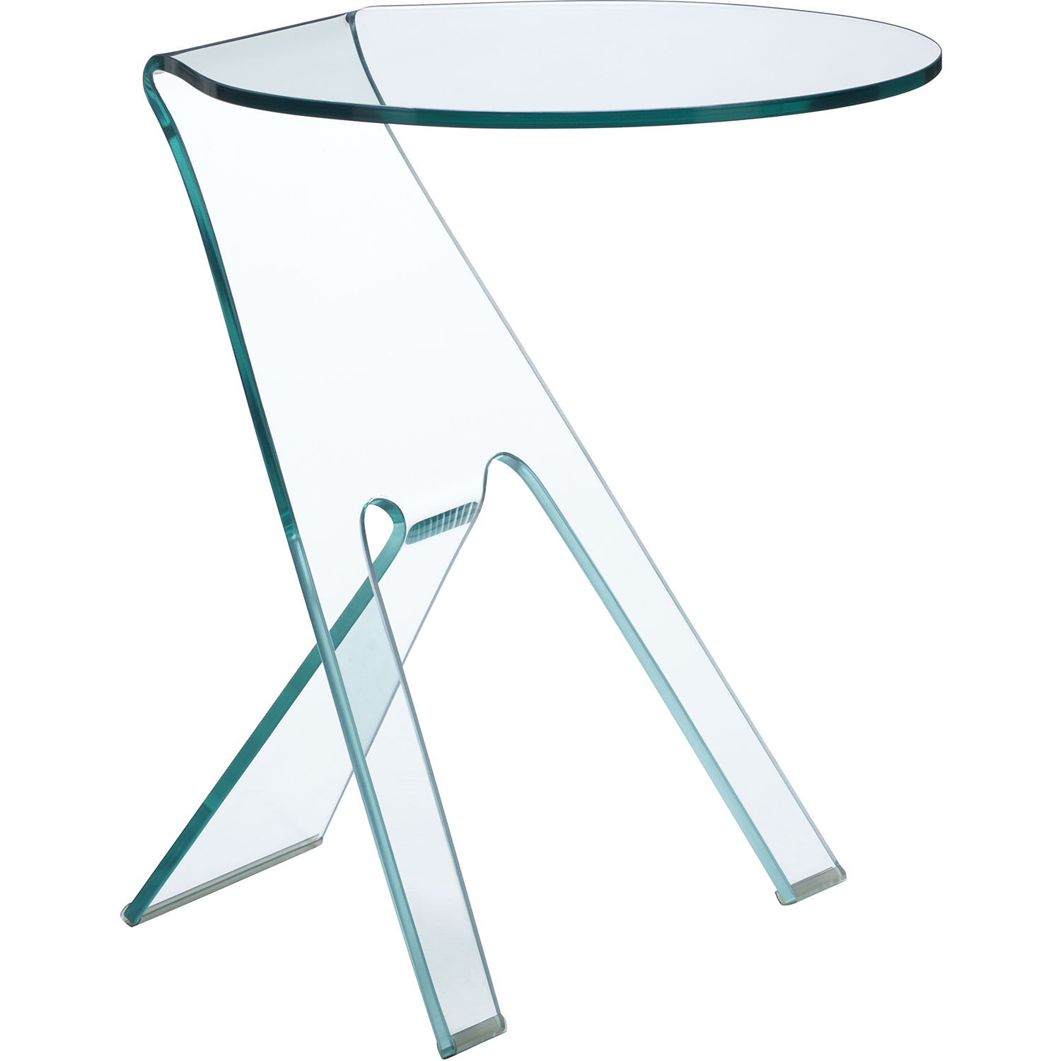 Impressive Modern Journey Side Table Clear Product Photo