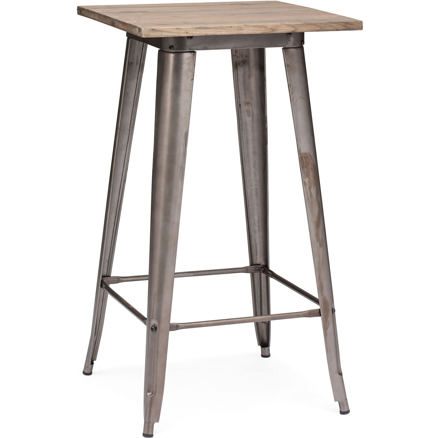 New Era Titus Bar Table Rustic Wood Product Photo