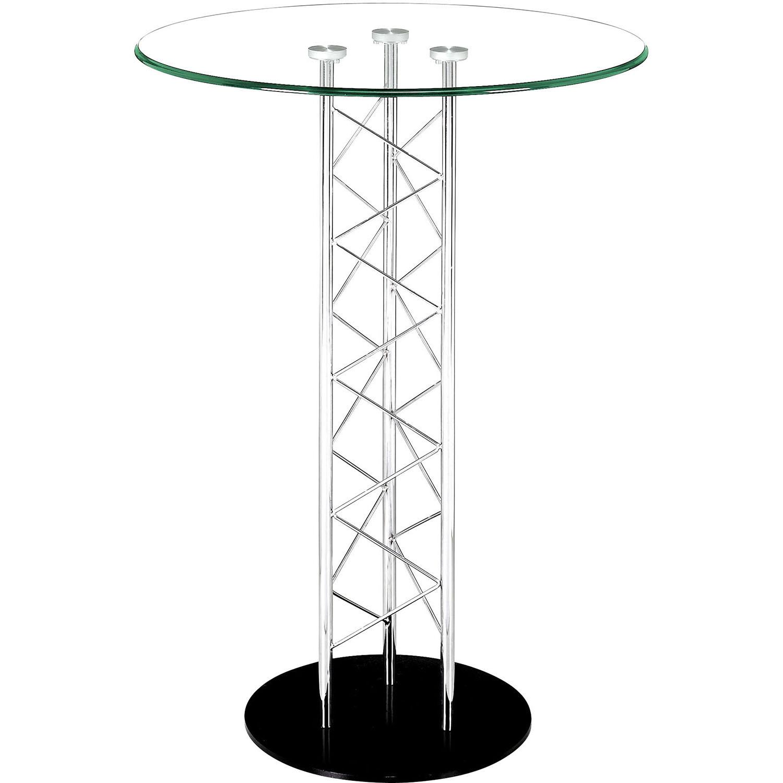 Outstanding Modern Chardonnay Bar Table Chrome 12 2331