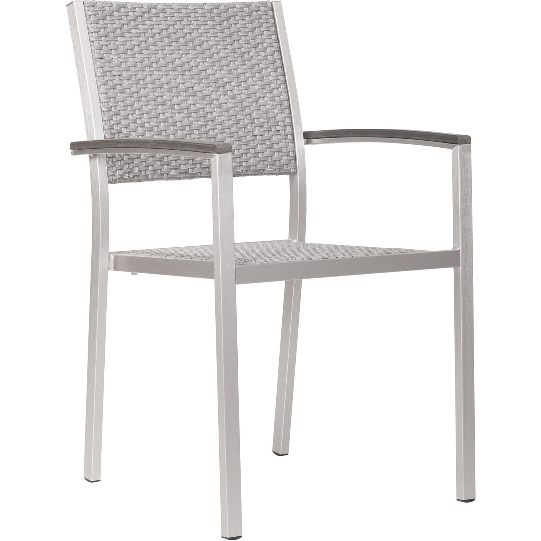 Precious Outdoor Metropolitan Dining Armchairs Brushed Aluminum Product Photo