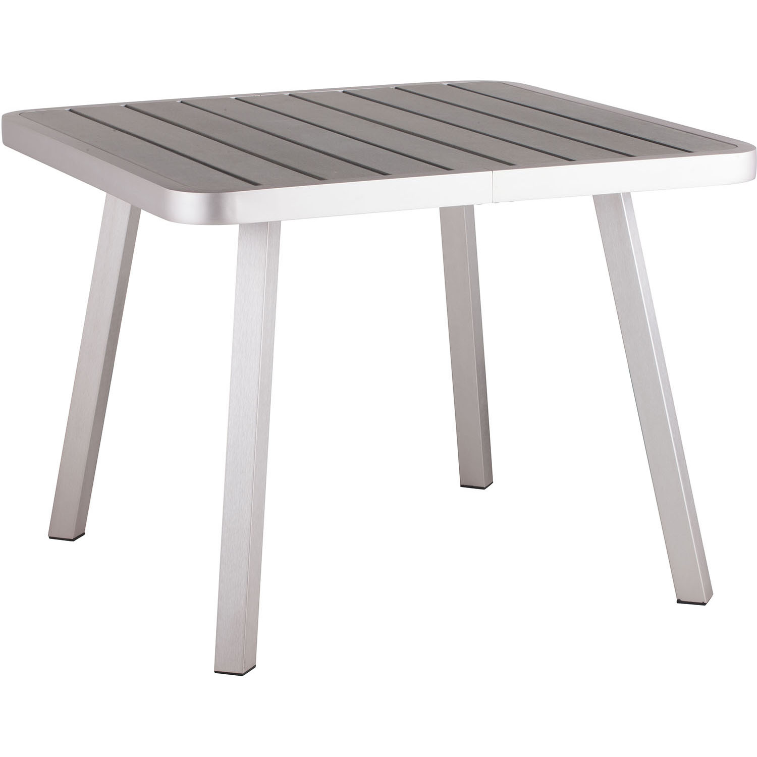 Lovable Outdoor Township Dining Square Table Brushed Aluminum Frame  Product Photo