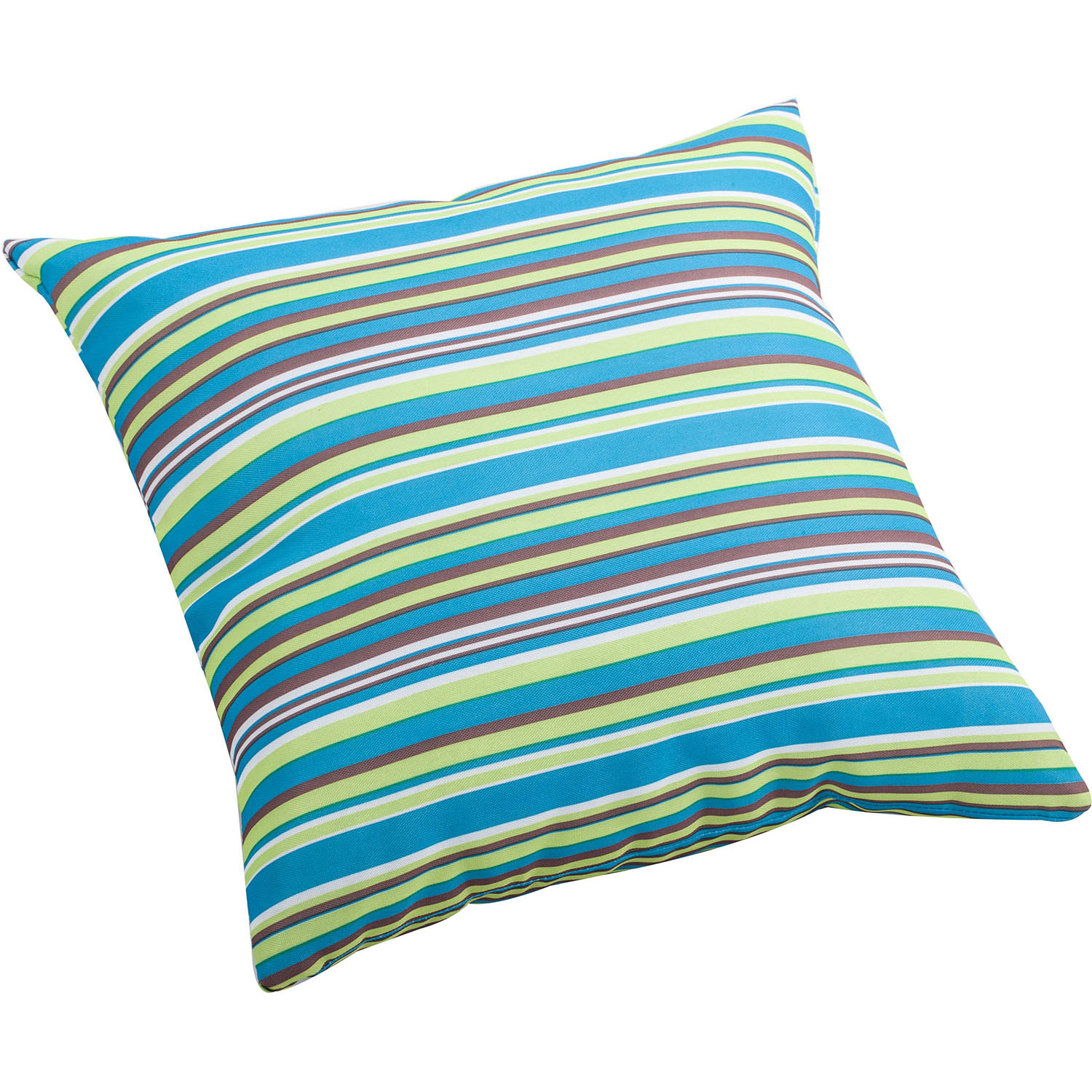 Outdoor Puppy Pillow With Multicolor Stripe Pattern: Size Options