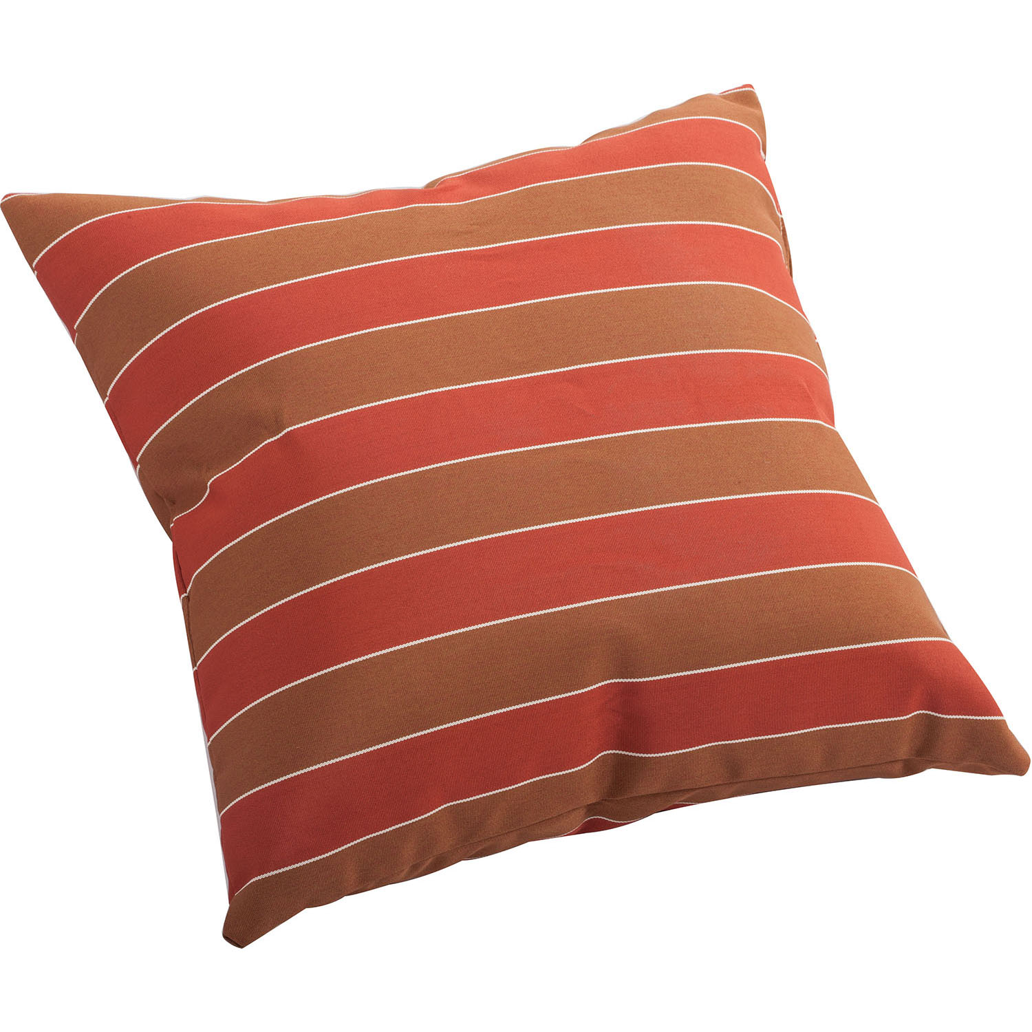 Outdoor Joey Pillow Brown/Clay Wide Stripe Pattern: Size Options