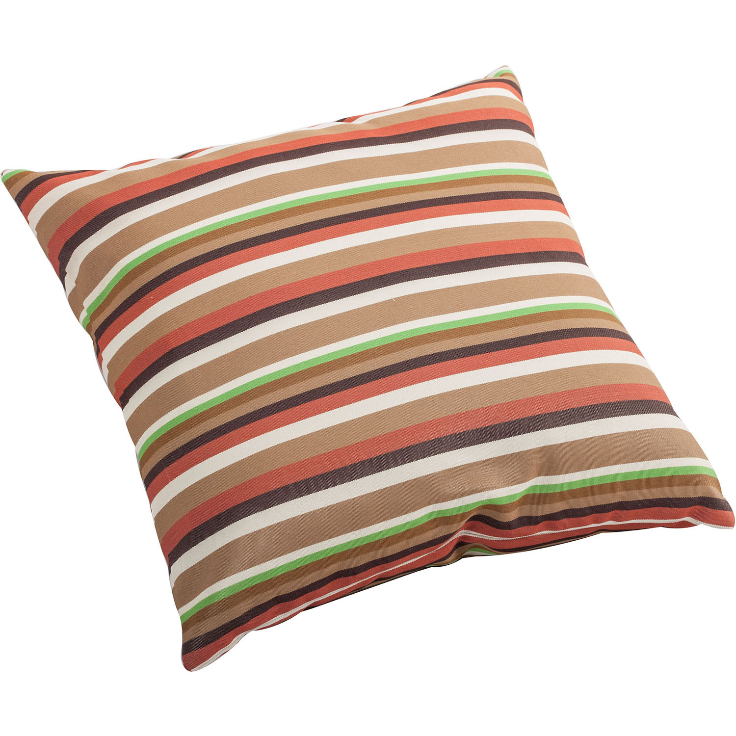 Outdoor Hamster Pillow Brown Base Multistripe Pattern: Size Options
