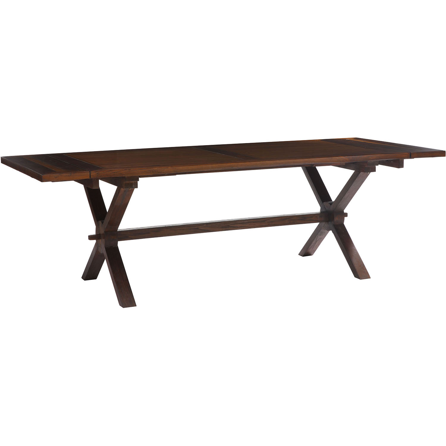 zuo era laurel heights distressed finish extendable dining table 98161